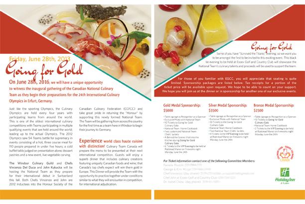 Ballyhoo Design CCFCC Culinary Federation Menu